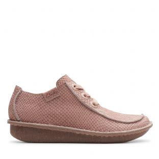 Clarks Womens Funny Dream Dusty Pink Nubuck Shoes
